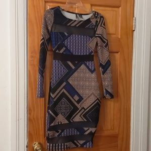 Dresses & Skirts - Long sleeve multiple color dress size small